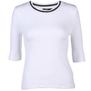 Damen Shirt mit Glitzerkragen