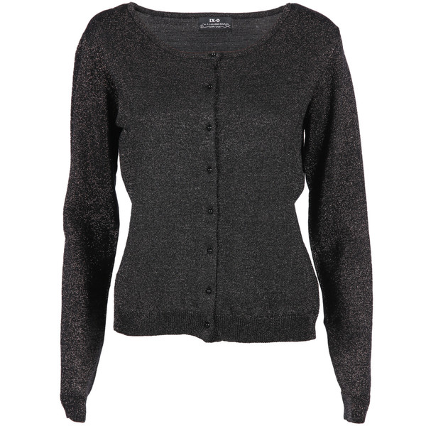 Damen Cardigan in Glitzer Optik