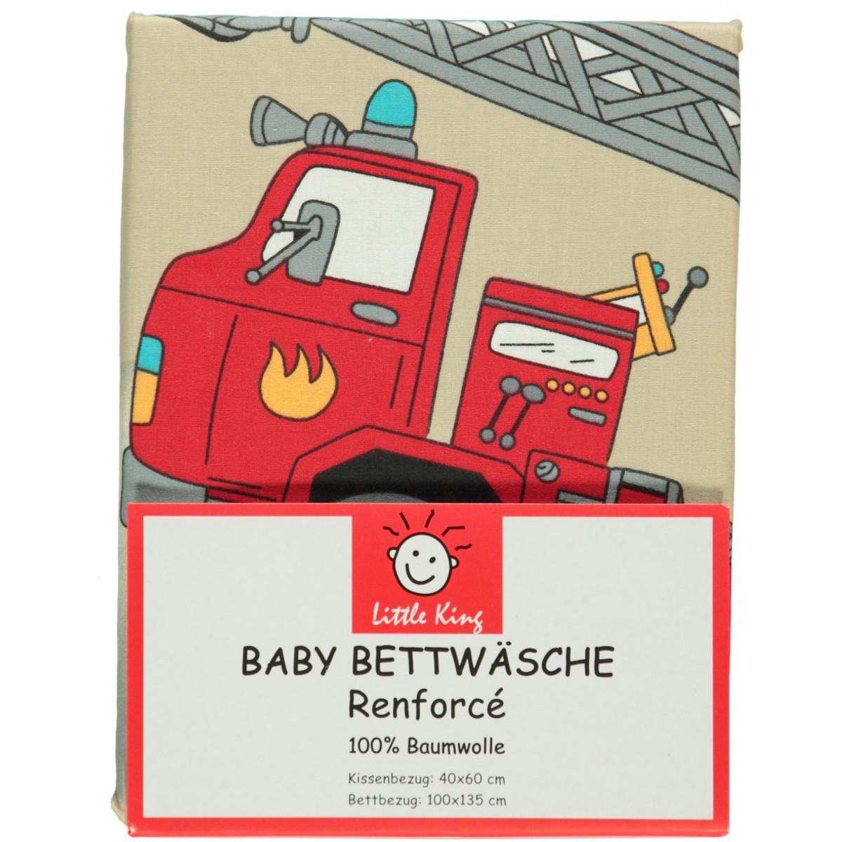 Bild 2 von Kleinkind Bettwäsche Feuerwehr 100x135cm