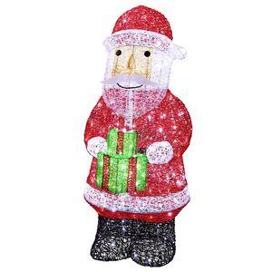 Tarrington House LED-Acryl Weihnachtsmann mit Paket 148 cm