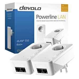 Devolo Powerline Starter Kit dLAN® 550 duo+  Weiß