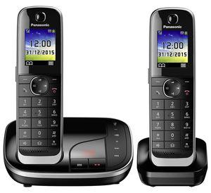 Panasonic KX - TGJ 322 GB Telefon Duo schnurlos, mit Anrufbeantworter