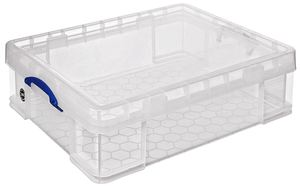 Really Useful Products Aufbewahrungsbox 70 l Transparent