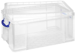 Really Useful Products Aufbewahrungsbox 64 l Transparent
