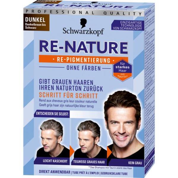 Schwarzkopf RE-NATURE Re-Pigmentierung für Männerhaar dunkel