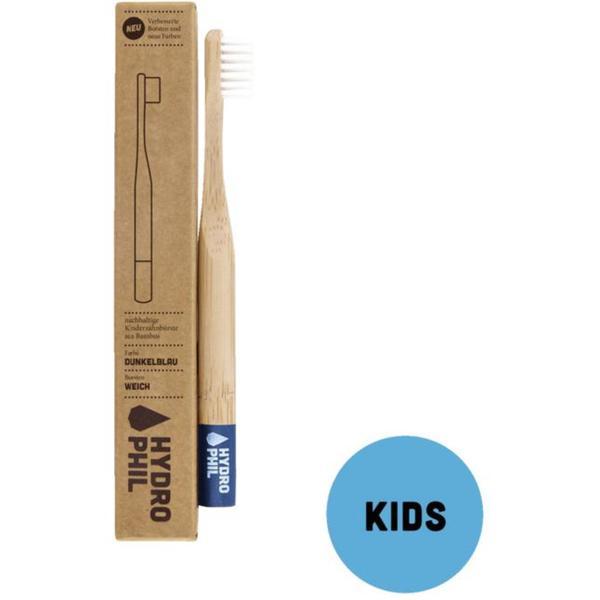HYDROPHIL Nachhaltige Zahnbürste für Kinder blau extra Weich
