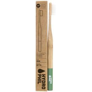 HYDROPHIL Nachhaltige Zahnbürste grün mittelweich