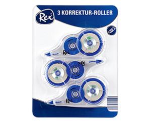 Rex®  Korrektur-Roller, 3 Stück