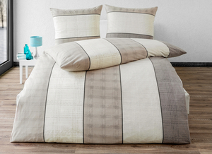 Dreamtex Thermo-Fleece Bettwäsche, 135 x 200 cm - Fine Stripes