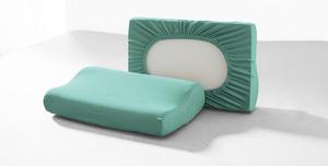 DREAMTEX Spannbezug 2er Set für Gesundheitskissen / Nackenstützkissen - Mint
