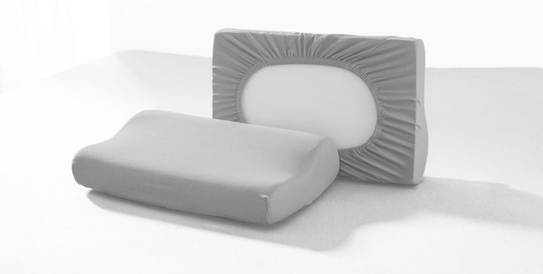DREAMTEX Spannbezug 2er Set für Gesundheitskissen / Nackenstützkissen - Silber