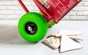 Kraft Werkzeuge Universal Sackkarrenrad mit Stahlfelge - schwarz/grün