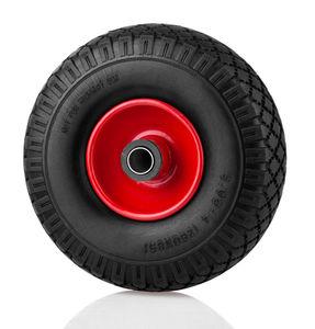Kraft Werkzeuge Universal Sackkarrenrad mit Stahlfelge - rot/schwarz