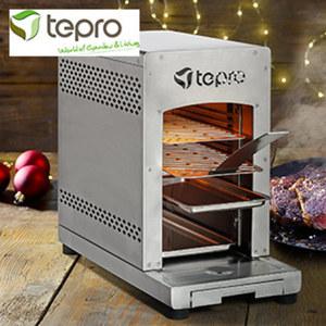 """Gasgrill """"Steakmaschine Toronto"""" - 1 Keramik-Infrarotbrenner, ca. 3 kW - doppelwandiges Edelstahl Gehäuse - innerhalb von max. 2 min. auf Betriebstemparatur von ca. 800 °C - 2 Edelstahl-Grillroste."""