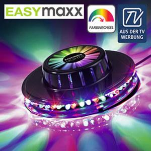 LED-Party Lichtrad - 48 LEDs projizieren schillernde Farbmuster  - 360°-Effekt taucht die komplette Zimmerwand oder Decke in eine Lichtwelt - ca. 12,7 cm Ø