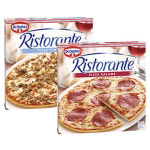 Dr. Oetker Pizza Ristorante Salami gefroren, jede 320-g-Packung und weitere Sorten