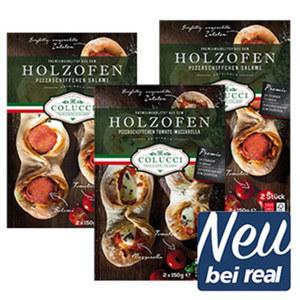 Colucci Holzofen Pizzaschiffchen versch. Sorten, gefroren, jede 2er = 300-g-Packung