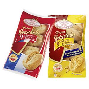 Coppenrath & Wiese Unsere Goldstücke Weizenbrötchen gefroren, jeder 450-g-Beutel und weitere Sorten