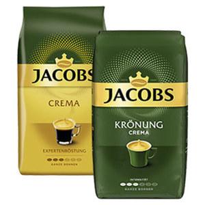 Jacobs Krönung oder Crema Expertenröstung versch. Sorten, jede 1000-g-Packung