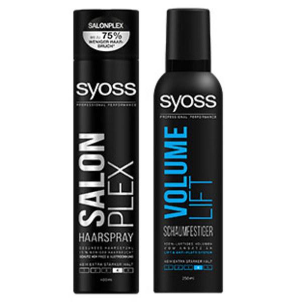 Syoss Haarspray oder Schaumfestiger jede 400/250-ml-Dose