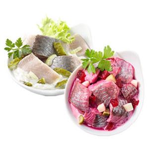 Roter und Weisser Heringssalat je 100 g