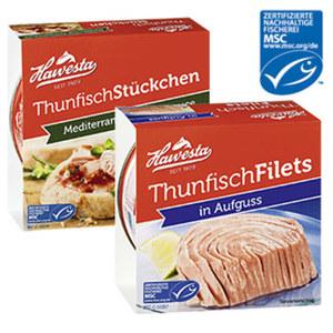 Hawesta MSC Thunfischprodukte versch. Sorten, jede 160/185-g-Dose