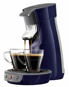 Senseo Viva Café Kaffeepadmaschine für 1 oder 2 Tassen, Farbe Dunkelblau