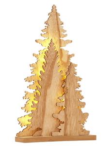Baum-Sihouette Baumgruppe aus Holz, Höhe 35 cm