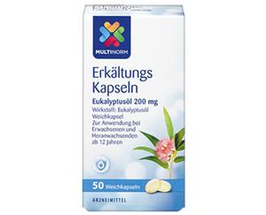 MULTINORM Erkältungs-Kapseln Eukalyptusöl 200 mg