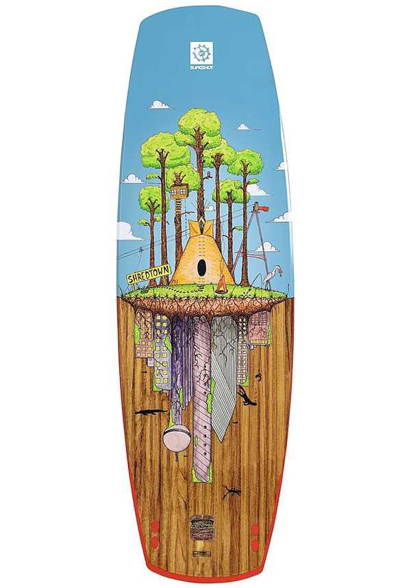 Slingshot Shredtown 135cm - Wakeboard für Herren - Mehrfarbig