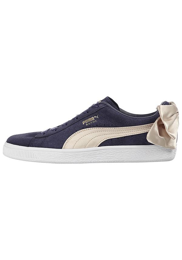 Puma Suede Bow Varsity Sneaker für Damen Blau
