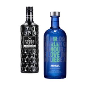 Absolut Vodka oder Three Sixty Vodka Black