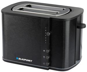 Blaupunkt Toaster 1000W, Aufwärm- und Auftaufunktion, 33mm breite Schlitze, Außenwand schwarz, gebürstete Alu-Optik, schwarz