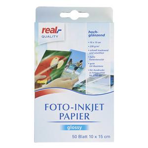 rQ Fotopapier 50 BLATT 10x15cm, 230g/qm glänzend