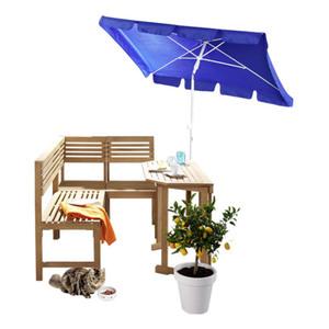 Silvertree Sonnenschirm Louis 180 x 120 cm, rechteckig, Farbe Blau