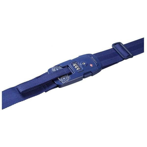 Samsonite 63220-1439 US Strap + Scale Blau Koffergurt TSA Schloss