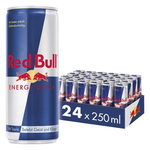 Red Bull Energy Drink 24 x 250 ml Dosen Getränke, 24er Palette inkl. 6,00€ Pfand