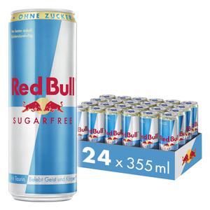 Red Bull Energy Drink Sugarfree 24 x 355 ml Dosen Getränke, Zuckerfrei 24er Palette inkl. 6,00€ Pfand