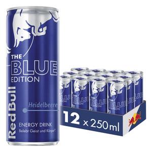 Red Bull Energy Drink Heidelbeere 12 x 250 ml Dosen Getränke, Blue Edition 12er Palette inkl. 3,00 € Pfand