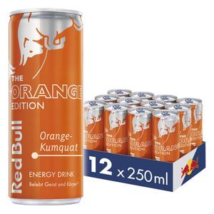 Red Bull Energy Drink Orange-Kumquat 12 x 250 ml Dosen Getränke, Orange Edition 12er Palette inkl. 3,00€ Pfand