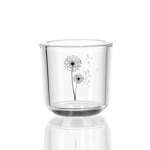 Zauberwerk - 'Wunschblume' Teelichtleuchter 8cm, klar (2er Pack); 189803