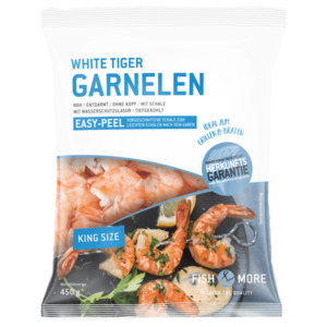 Fish & More White Tiger Garnelen easy peel 450g