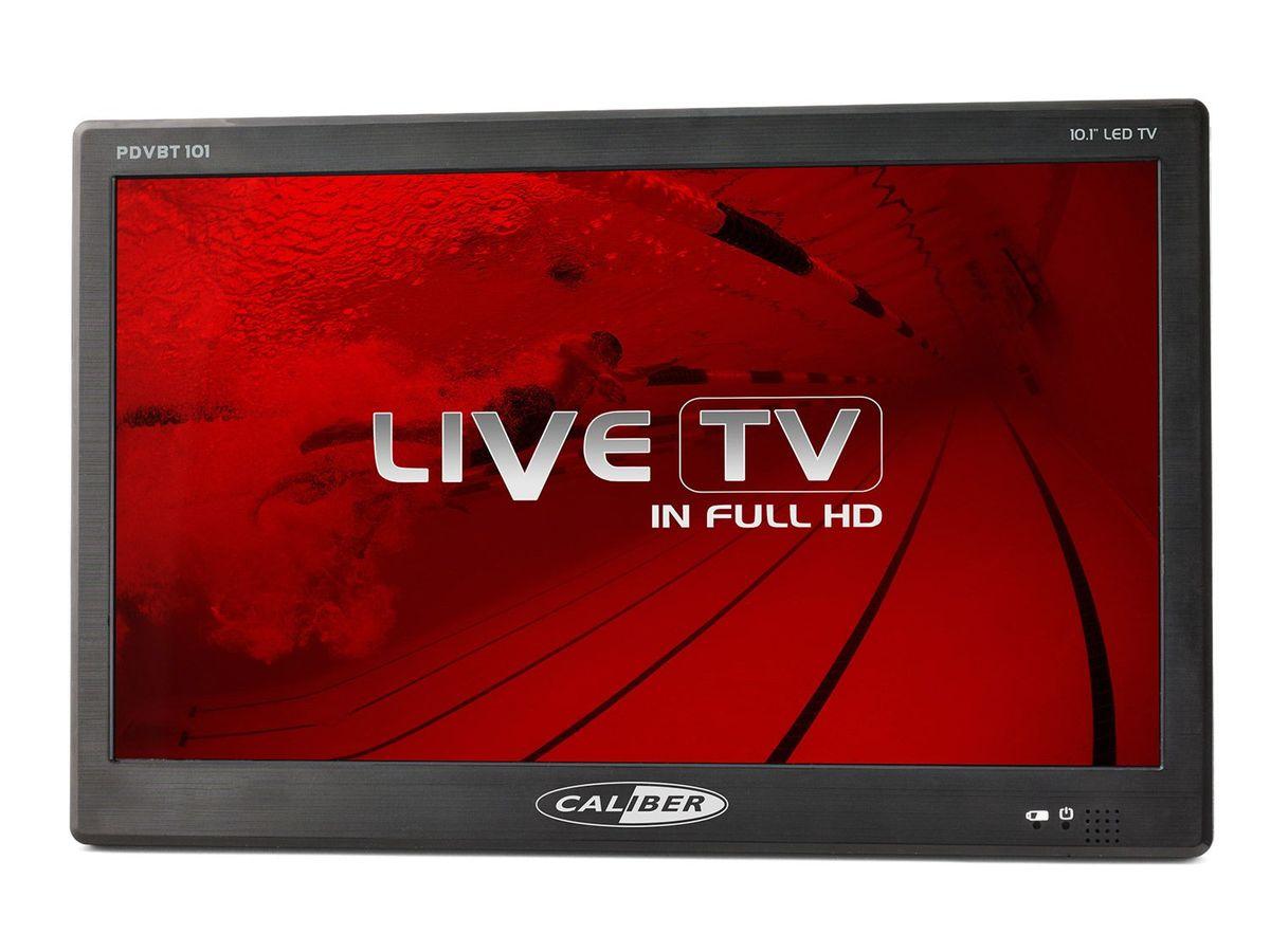Bild 2 von Caliber Tragbarer TV mit 10 Zoll LED Bildschirm mit eingebauter Akku, inkl. 12V Kfz-Anschlusskabel PDVBT101