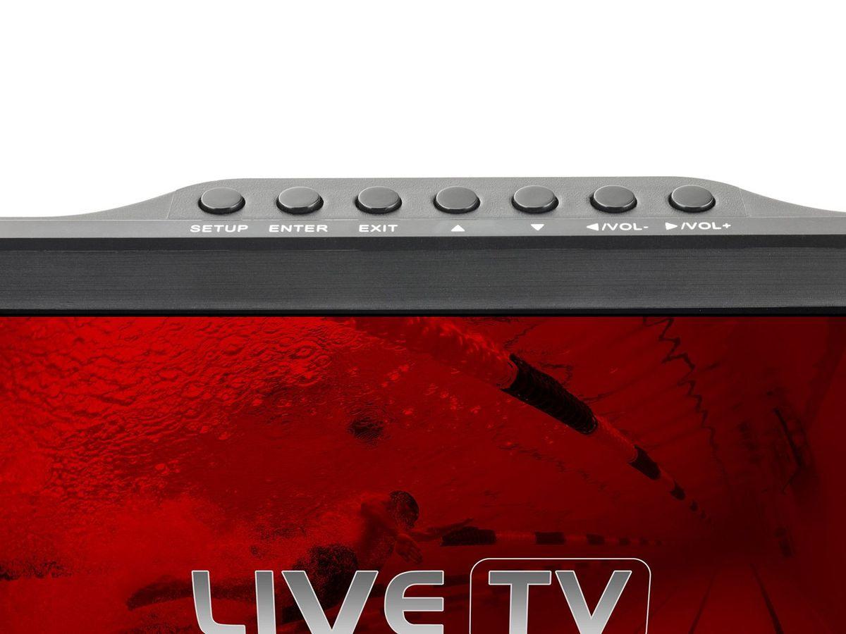 Bild 5 von Caliber Tragbarer TV mit 10 Zoll LED Bildschirm mit eingebauter Akku, inkl. 12V Kfz-Anschlusskabel PDVBT101