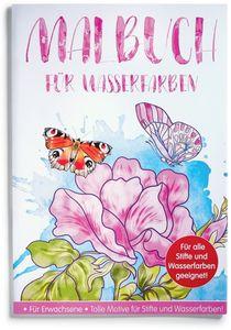 Malbuch für Wasserfarben - Fantastische Natur - für Erwachsene