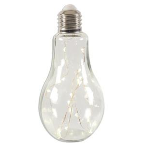 LED-Partylampe - transparent - Glas