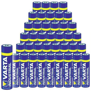 Industrial Sparpacks Alkaline Batterien Varta