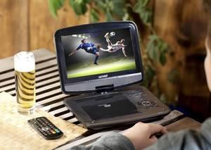 Portabler 9 DVD-Player mit DVB-T2 Tuner und Kopfstützenhalterung DENVER®