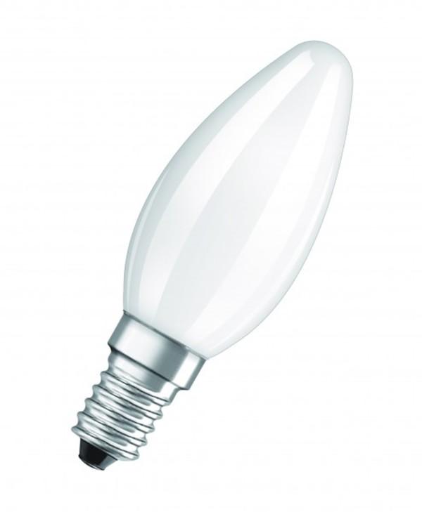 Osram LED Kerzenlampe RF Star B40 ,  E 14 - 4 W, Filament, matt