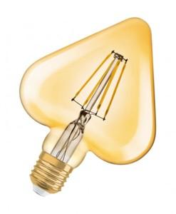 Osram LED Glühlampe Vintage 1906 Herz ,  E27 -4,5W, klar